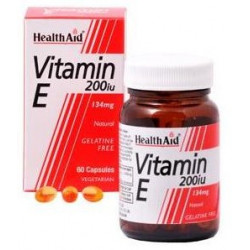 Vitamina E natural 200 UI   60 Cápsulas