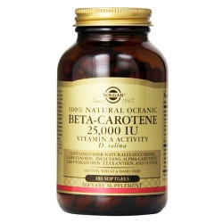 Beta Caroteno  100% Natural  7 mg   180 Perlas